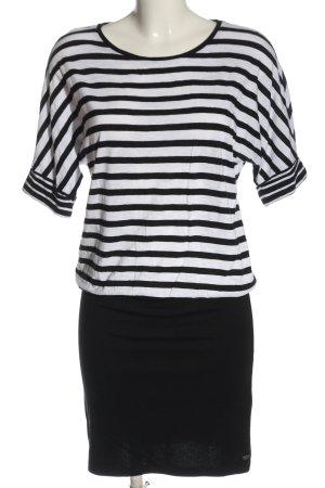 edc Minikleid schwarz-weiß Streifenmuster Elegant
