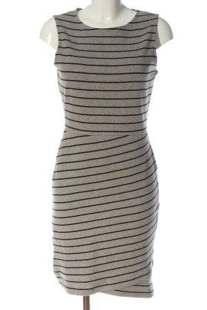 edc Mini Abito grigio chiaro-nero motivo a righe stile casual
