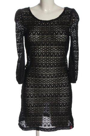 edc Minikleid schwarz extravaganter Stil