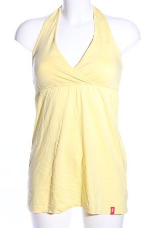 edc Top senza maniche giallo pallido stile casual