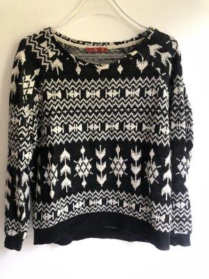 edc by Esprit Norwegian Sweater black-natural white