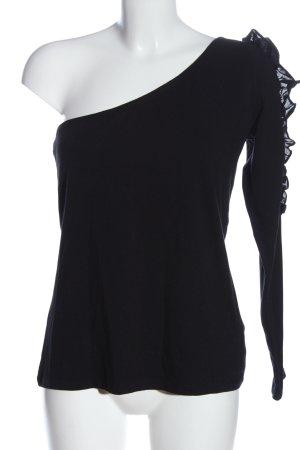 edc One Shoulder Shirt black casual look