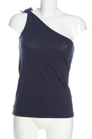 edc Haut avec une épaule dénudée bleu style décontracté