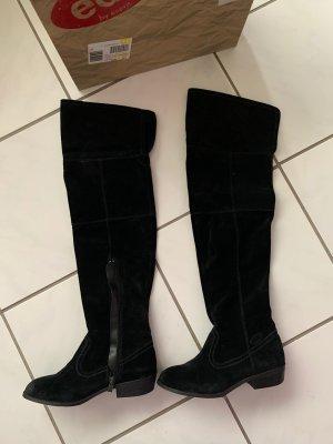 EDC Overknee Stiefel in schwarz
