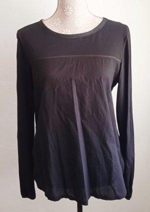 EDC, Pailletten Dekor Shirt , Langarm, L, Schwarz, leicht & sommerlich, SUPER STYLISH