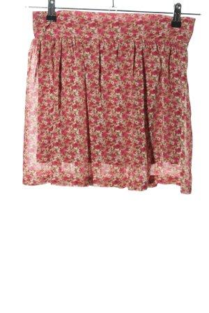 edc Jupe plissée rose-kaki motif de fleur style décontracté