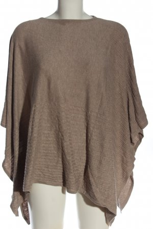 edc Poncho braun Zopfmuster Casual-Look