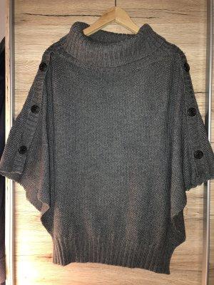 edc Poncho en tricot gris-gris foncé
