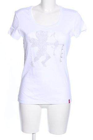 edc Print-Shirt weiß Motivdruck Casual-Look