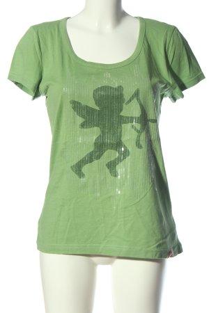 edc Print-Shirt grün Motivdruck Casual-Look
