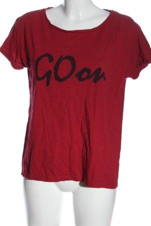 edc Print-Shirt rot Schriftzug gedruckt Casual-Look