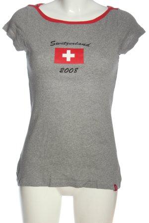edc Print-Shirt hellgrau meliert Casual-Look