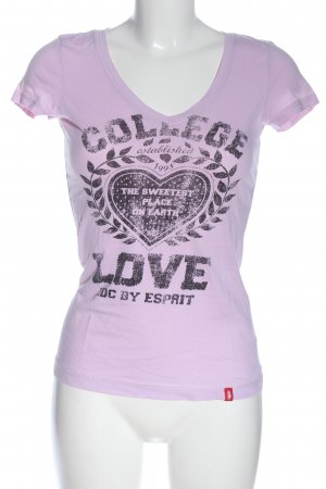 edc Print-Shirt pink-braun Motivdruck Casual-Look