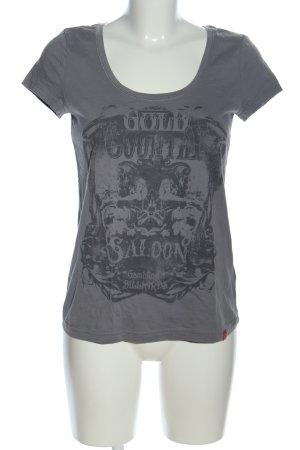edc Print-Shirt hellgrau Motivdruck Casual-Look