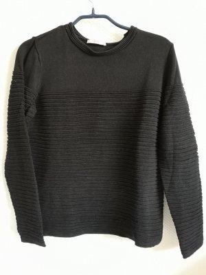 edc by Esprit Ribbed Shirt black cotton