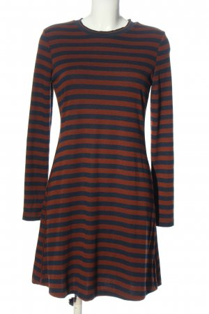 edc Swetrowa sukienka brązowy-niebieski Wzór w paski W stylu casual