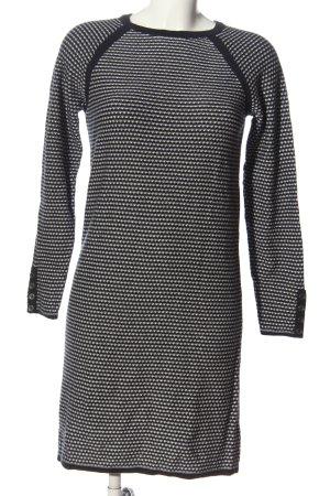 edc Swetrowa sukienka niebieski-biały Na całej powierzchni W stylu casual