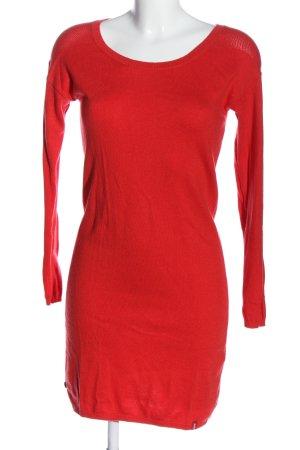edc Swetrowa sukienka czerwony W stylu casual