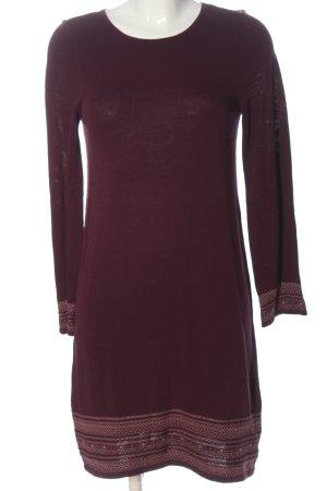 edc Pulloverkleid braun-pink grafisches Muster Casual-Look