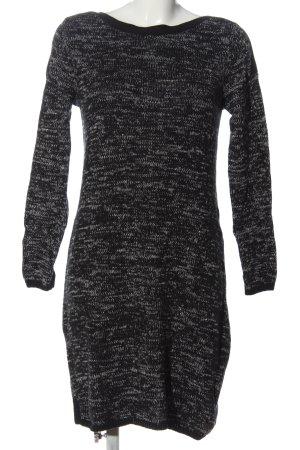 edc Swetrowa sukienka czarny-jasnoszary Melanżowy W stylu casual