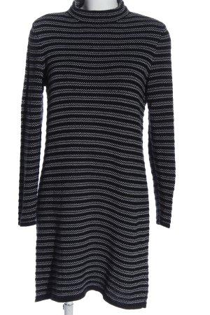 edc Pulloverkleid schwarz-weiß Streifenmuster Casual-Look