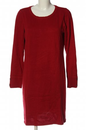 edc Sweater Dress red cable stitch casual look