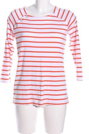edc Stripe Shirt white-light orange allover print casual look