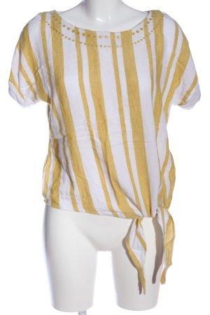 edc Stripe Shirt primrose-white striped pattern casual look
