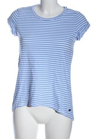 edc Stripe Shirt blue-white striped pattern casual look