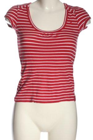 edc Gestreept shirt rood-wit volledige print casual uitstraling