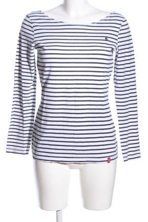 edc Stripe Shirt white-black striped pattern casual look