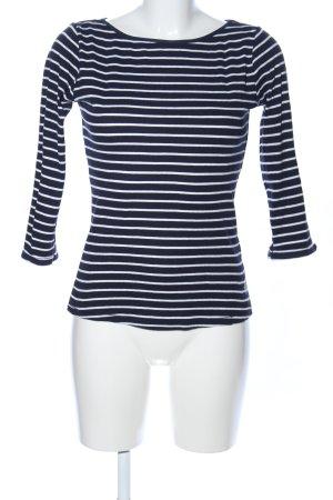 edc Gestreept shirt zwart-wit gestreept patroon zakelijke stijl