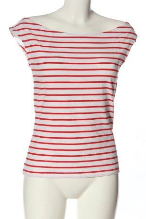 edc Ringelshirt weiß-rot Streifenmuster Casual-Look