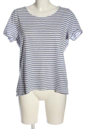 edc Koszulka w paski biały-niebieski Na całej powierzchni W stylu casual