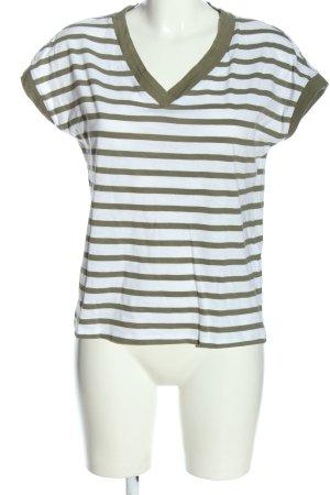 edc Camisa de rayas blanco-caqui estampado repetido sobre toda la superficie
