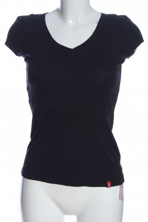 edc Geribd shirt zwart casual uitstraling