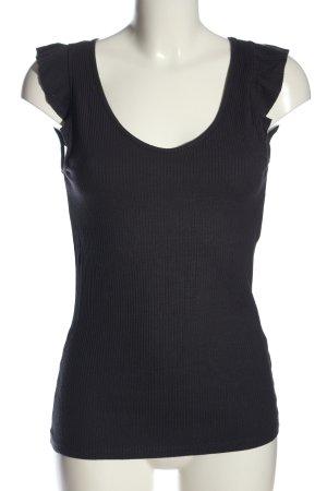 edc Ribbed Shirt black casual look