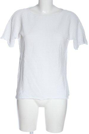 edc Camisa acanalada blanco estampado a rayas look casual