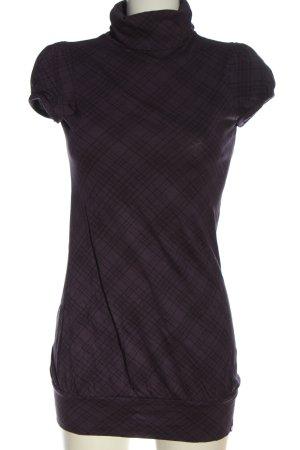 edc Turtleneck Shirt lilac-black allover print casual look
