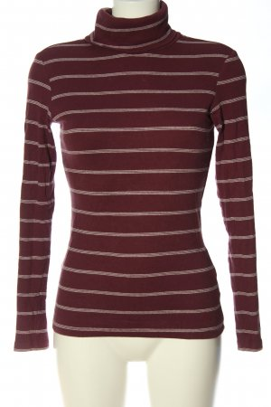 edc Turtleneck Shirt red-white striped pattern casual look