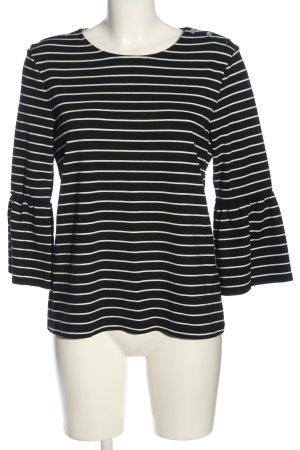 edc Rüschen-Bluse schwarz-weiß Streifenmuster Casual-Look