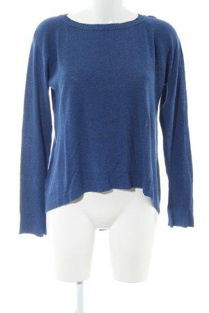 edc Rundhalspullover blau Casual-Look
