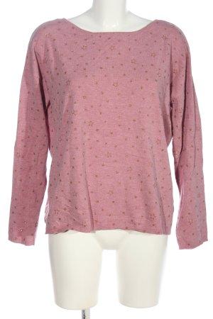 edc Rundhalspullover pink-hellorange Motivdruck Casual-Look