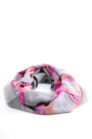 edc Sciarpone grigio chiaro-rosa motivo a righe stile casual