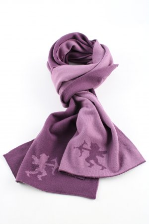 edc Tube Scarf lilac themed print casual look