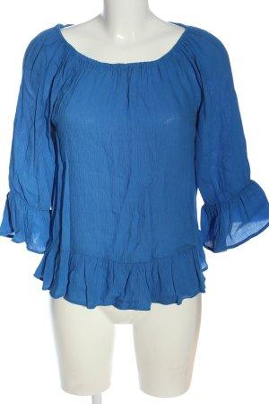 edc Schlupf-Bluse blau Casual-Look