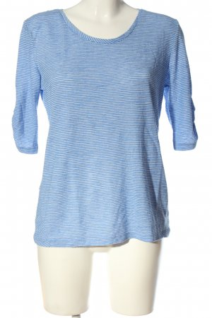 edc Schlupf-Bluse blau-weiß Streifenmuster Casual-Look