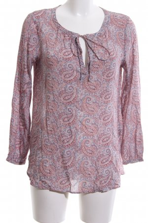 edc Schlupf-Bluse pink-blau abstraktes Muster Casual-Look