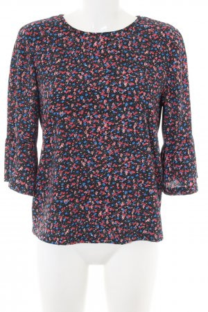 edc Schlupf-Bluse blau-pink abstraktes Muster Casual-Look