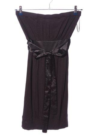 edc schulterfreies Kleid braun Elegant